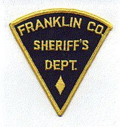 Misc: Franklin Co. Sheriffs Dept. Patch (blue/yellow)