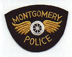 Montgomery Police Patch (old, felt, no gold edge) (AL)