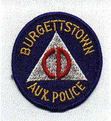 Burgettstown Aux. CD Police Patch (PA)