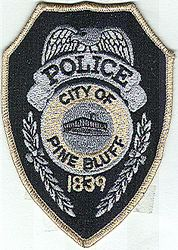 Pine Bluff City 1839 Police Patch (tan edge, large) (AR)