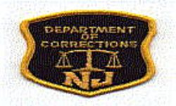 Dept. of Corrections Patch (gold edge, cap size) (NJ)