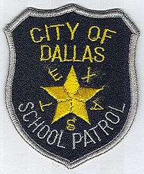 School: TX. Dallas School Patrol Patch