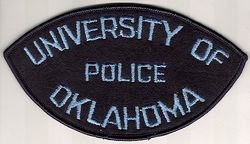 School: OK, Univ. of Oklahoma Police Patch (felt)