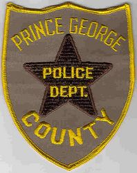 Prince George Co. Police Patch (yellow edge/star) (VA)