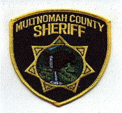 Sheriff: OR, Multnomah Co. Sheriff Patch (large)