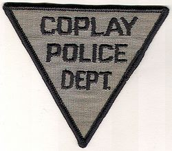 Coplay Police Patch (gray/black, small triangle) (PA)
