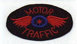 Motor Traffic Patch (red/blue felt, no edge) (AL)