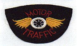 Motor Traffic Patch (red/yellow/white, felt, no edge) (AL)