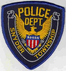 Snyder Twp. Police Patch (PA)