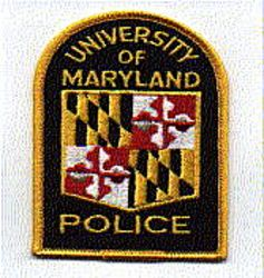 School: MD, Univ. of Maryland Police Patch(uniform take off)