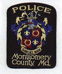 Montgomery Co. Police Patch (black edge, new ) (MD)
