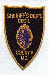 Sheriff: MD, Cecil Co. Sheriffs Dept. Patch (old)