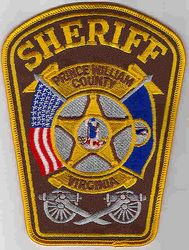 Sheriff: VA. Prince William Co. Sheriff Patch (cannons, flag)