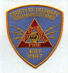 Delaware Co. Fire Police Rescue Communications1947 Patch (PA)
