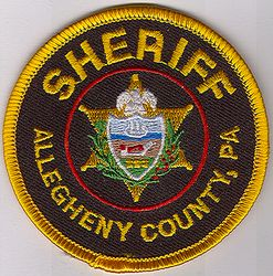 Sheriff: PA, Allegheny Co. Sheriff Patch (round/small)