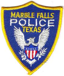 Marble Falls Police Patch (small) (TX)