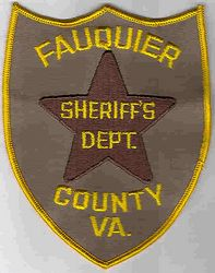 Sheriff: VA, Fauquier Co. Sheriffs Dept. Patch (star)