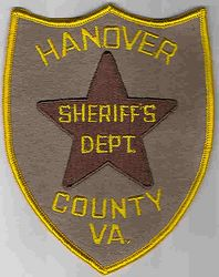 Sheriff: VA, Hanover Co. Sheriffs Dept. Patch (large, 5 star)