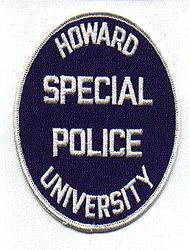 School: VA, Howard Univ. Special Police Patch