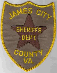 Sheriff: VA, James City Sheriffs Dept. Patch
