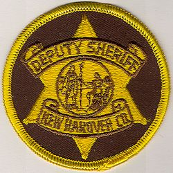 Sheriff: NC, New Hanover Co. Deputy Sheriff Patch(cap size)