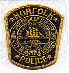 Norfolk Police Patch (black/gold) (VA)