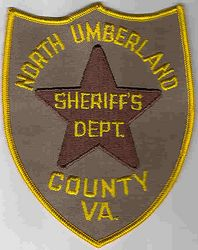 Sheriff: VA. North Umberland Co. Sheriffs Dept. Patch