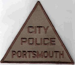 Portsmouth City Police Patch (triangular) (VA)