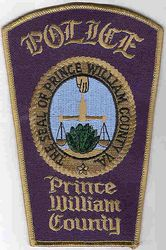 Prince William Co. Police Patch (County Seal, gold edge) (VA)