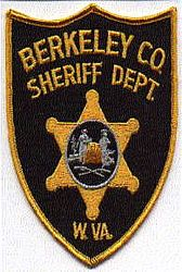 Sheriff: WV. Berkeley Co. Sheriffs Dept. Patch (gold edge)