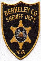 Sheriff: WV. Berkeley Co. Sheriffs Dept. Patch (gold edge)