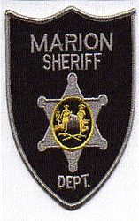Sheriff: WV. Marion Sheriffs Dept. Patch (gray edge)