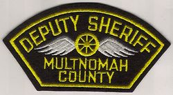 Sheriff: OR, Multnomah Co. Deputy Sheriff Patch (felt)