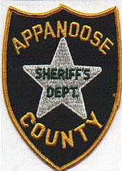 Sheriff: IA, Appanoose Co. Sheriffs Dept. Patch (white star)