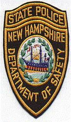 State: NH, State Police Patch (black/gold) (old/cut edge)