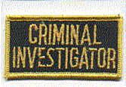 Sheriff: FL, Sheriff Criminal Investigator Patch (pocket tab)