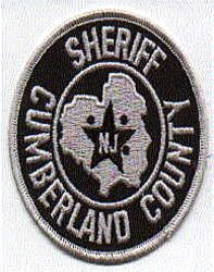 Sheriff: NJ, Cumberland Co. Sheriff SWAT Patch (round)