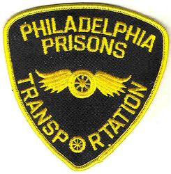 Philadelphia Prisons Transportation Patch(black/gold) (PA)