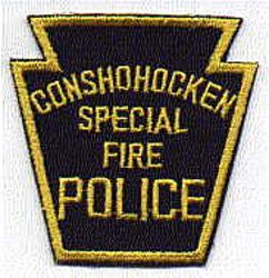 Conshohocken Special Fire Police Patch (PA)