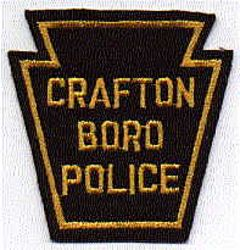 Crafton Boro Police Patch (gold, felt) (PA)