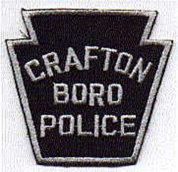 Crafton Boro Police Patch (silver, twill) (PA)
