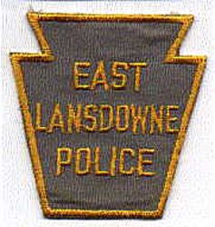 East Lansdowne Police Patch (gold/brown) (PA)
