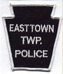Easttown Twp. Police Patch (white/black, twill) (PA)
