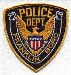 Franklin Boro Police Patch (gold edge, eagle) (PA)
