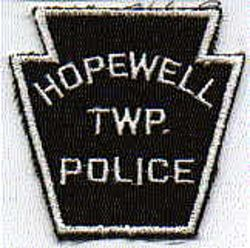 Hopewell Twp. Police Patch (white/black) (PA)