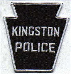 Kingston Police Patch (white/black) (PA)