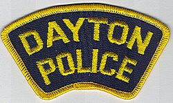 Dayton Police Patch (yellow edge, tab patch) (OH)