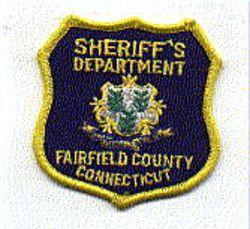 Sheriff: CT, Fairfield Co Sheriffs Dept Patch (sm,shield shape)