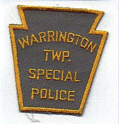 Warrington Twp. Special Police Patch (gray/yellow) (PA)