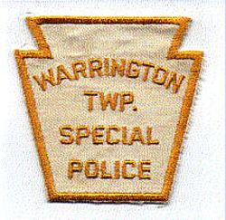 Warrington Twp. Special Police Patch (white/yellow) (PA)